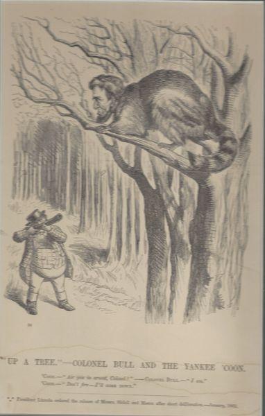 [Lincoln] Civil War Period Cartoon Pokes Fun At President Lincoln In Mason, Slidell Affair