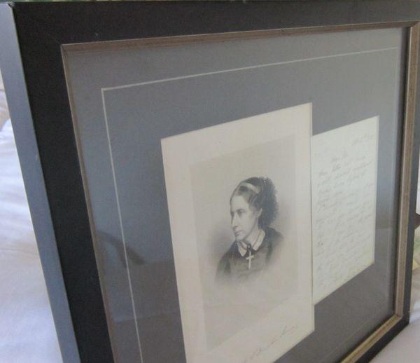 Uncle Tom's Cabin Author, Abolitionist Harriet Beecher Stowe Seeks Copies Of Articles; Alexander Ritchie Engraving