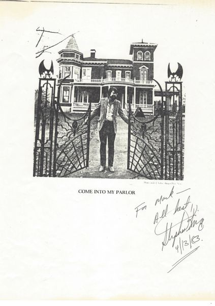 Maine Author Stephen King Image In Front Of His Maine Home, Inscribed And Signed