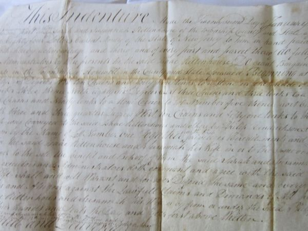 Early 19th Century New Jersey Documents Provide Share Of Fishery To Sarah Rittenhouse, Letter Of Attorney For Plantation
