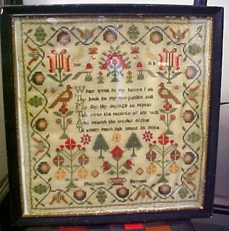 Superb School Girl's Sampler Stitched by Maryann Bennett