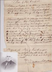 1834 New Hampshire Militia Sergeant Swears Oath of Allegiance