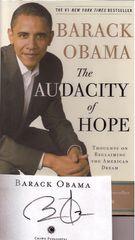 Barack Obama's Audacity of Hope -- Autographed