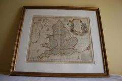 18th Century Bowen Map of South Britain or England and Wales
