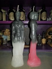 Candle - Male Figure Two Toned