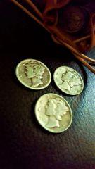 Silver Mercury Dime