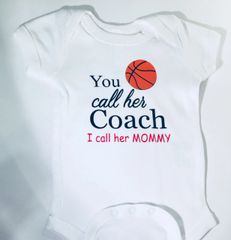 -Infant Baby Rib Bodysuit - You call her Coach I call her Mommy