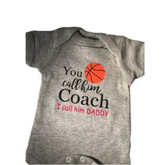 -Infant Baby Rib Bodysuit - You call him Coach, I call him Daddy