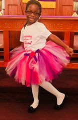 Handcrafted Pink & Purple Tutu with Satin Bow - Pricing by size - up to 6 months $22, 12-24 months $30, and $35 all other sizes up to size 7