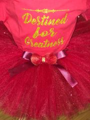 Red Tulle Tutu with Satin Bow - Pricing by size - up to 6 months $22, 12-24 months $30, and $35 all other sizes up to size 7