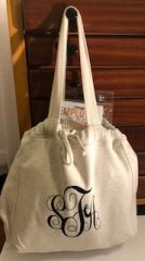 MV Sport Monogrammed Carry All Oatmeal Comfy Bag