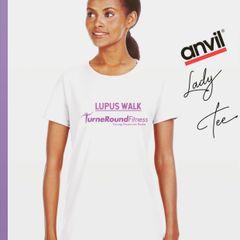 Anvil Lady Midweight Semi-Fitted & Pre-Shrunk Lupus Walk - Team TurneRoundFitness