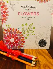Adult Coloring Book - 72 pages of meditative floral designs