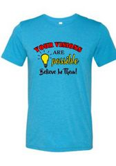 Anvil Unisex Crew Neck Message Tee - Your Visions are Possible