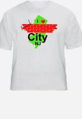 I Love Brick City Tee (Choose Short or Long Sleeve & Women V Neck Short Sleeve) - Brand Gildan Softstyle Tees