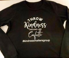 Adult Bella + Canvas Jersey Long Sleeve Tee - Throw Kindness Around Like Confetti - Vinyl Font