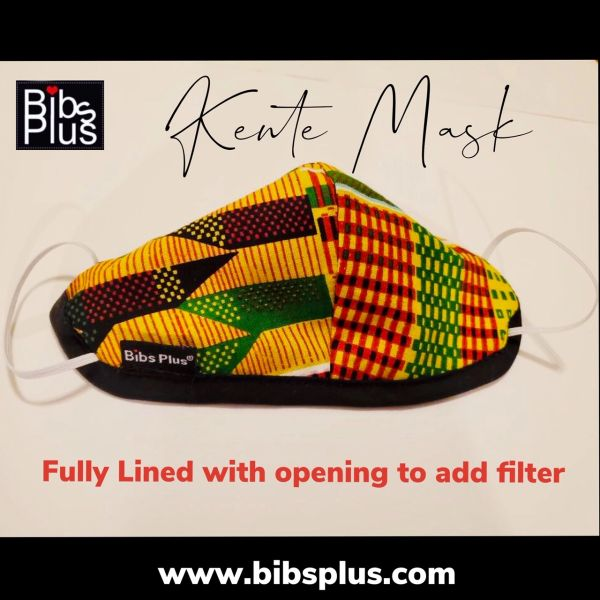 -Children Size Reusable Cotton Cloth Kente Face Masks