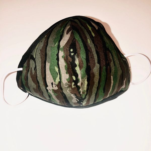 -Children Size Reusable Cotton Cloth Camo Mask