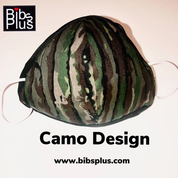 -Adult Size Reusable Cotton Cloth Camo Mask