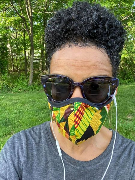 Adult Reusable Cotton Cloth Kente Face Masks - Handcrafted with Love