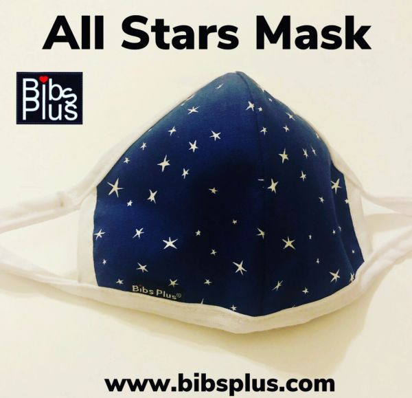 -Children Size Reusable Cotton Cloth All Stars Mask