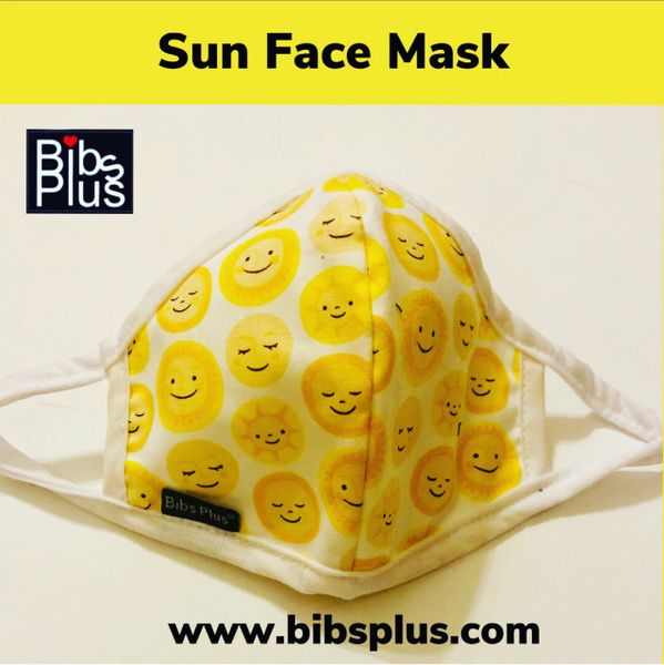 -Children Size Reusable Cotton Cloth Sun Face Mask