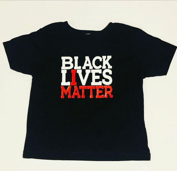 Black Lives Matter Children Vinyl Imprint Tees