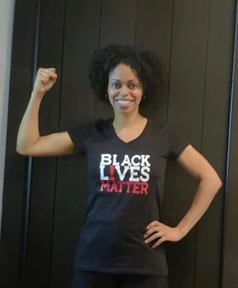 Adult Lady Fitted Bella + Canvas Black Lives Matter Vinyl Imprint Tee - Also Available in V Neck