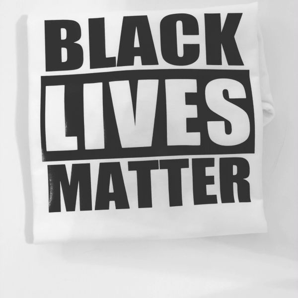 Anvil Unisex Crew Neck Black Lives Matter Vinyl Imprint White Message Tee