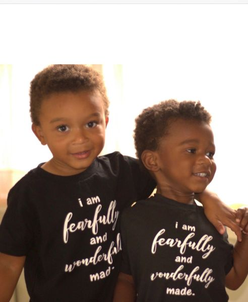 I am fearfully and wonderfully made - Vinyl Imprint Children Tees