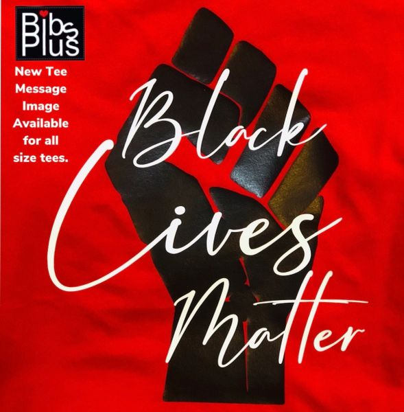 Adult Women's Black Lives Matter Red Message Tee - Gildan Softstyle Tee