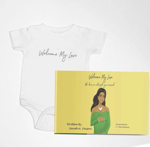 A Book & Infant Welcome My Love Onesie