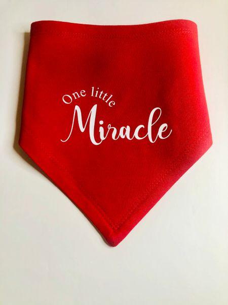 Premium Jersey Bandana One Little Miracle Bib
