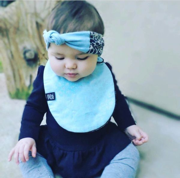 -Handcrafted Triple Layer Frozen Inspired Baby Bib