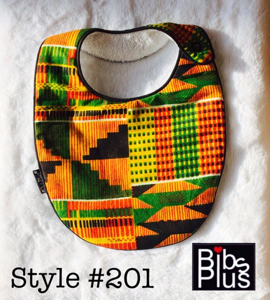 -Handcrafted Triple Layer Kente Bib