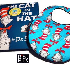The Cat in Hat Bib + Book Set