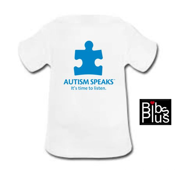 Autism Awareness White and Blue Puzzle Piece Tee Shirts