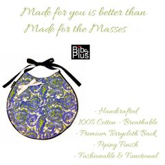 ~Paisley Fashion Statement Bib - Limited Edition