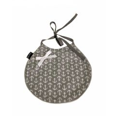~Anchors on Gray Nautical Baby Bib - Limited Edition