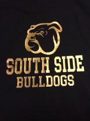 -Custom Bulldogs Heavy Blend Full Zip Black Hooded Sweatshirt