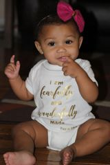 -Infant Baby Rib Bodysuit - Wonderfully Made with Gold Font