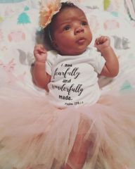 -Infant Baby Rib Bodysuit - Wonderfully Made