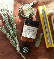 RELEASE | Alchemy Botanical Candle | Pure Essential Oil of Organic Lemongrass