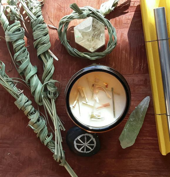 RELEASE | Alchemy Botanical Candle | Pure Essential Oil ~ Organic Lemongrass & Honeysuckle