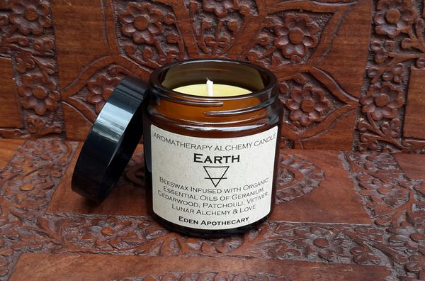 Earth Element ~ Aromatherapy Alchemy Candle ~ Amber Jar 120ml
