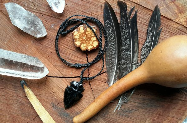 The Warriors Amulet ~ Black Obsidian Arrow Head