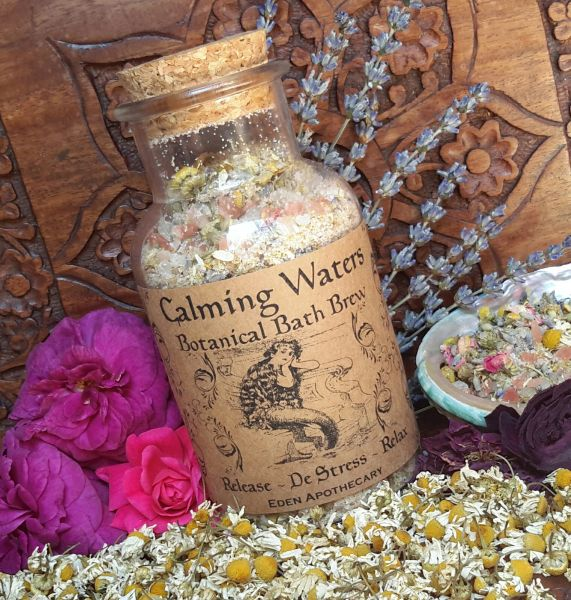 Calming Waters ~ Organic Botanical Bath Salts ~ LARGE