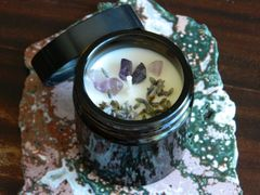 Amethyst & Lavender | Alchemy Candle ~ Sacred Space | Mental Clarity | Creativity | Protection | Psychic Awareness | Meditation.
