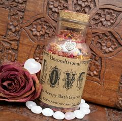 Alchemy of LOVE ~ Aromatherapy Bath Crystals ~ I am in the vibration of Love