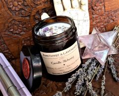 Amethyst & Lavender | Candle Alchemy ~ Mental Clarity | Sacred Space | New Moon Ceremony